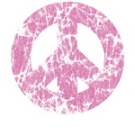 Classic Vintage Peace: Pink T-Shirts  ~ 
