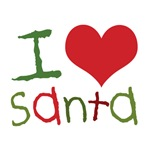 Kids I Love Santa T-Shirts