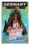 TWA Vintage Fly to Germany Advertising Print