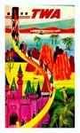 TWA Vintage Fantasy Flight Advertising Print