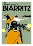 Rendezvous Biarritz Vintage Travel Advertising Pri