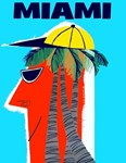 MIAMI, Art Deco Travel and Tourism Print