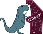 T-Rex playing Asteroid