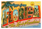 Vintage US State Postcard Art