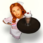 As God is My Waitress, I'll Never Go Hungry Again | Sarcastic Film Quote T-shirts & Anti Christian Gifts