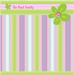 Pastel Stripes and Flowers PERSONALIZE IT