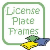 Cornhole License Plate Frames