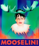 Sarah Palin as Mooselini in Pop Art