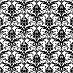 Ornate Black and White Damask Pattern