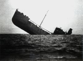 Sinking Japanese Ship
