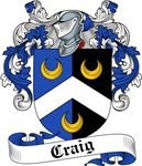 Craig Family Crest, Coat of Arms