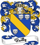 Bailly Family Crest, Coat of Arms
