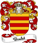 Boulet Family Crest, Coat of Arms