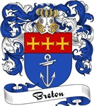Breton Family Crest, Coat of Arms