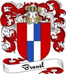Brunel Family Crest, Coat of Arms