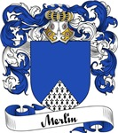 Merlin Family Crest, Coat of Arms