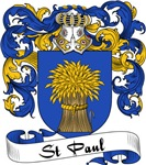 St. Paul Family Crest, Coat of Arms