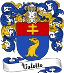 Valette Family Crest, Coat of Arms