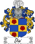 Dini Family Crest, Coat of Arms