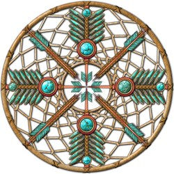 Turquoise Copper Dreamcatcher
