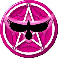 Crow Pentacle - Pink