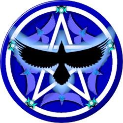 Crow Pentacle - Blue