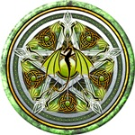Celtic Earth Dragon Pentacle