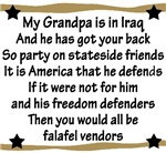 Grandpa has your back! Military Support Poem Yello