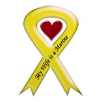 My Wife is a Marine Yellow Ribbon