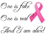 One is Fake One is Real Pink Ribbon