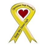 Keep My Sister Safe OIF Yellow Ribbon