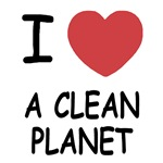 I heart a clean planet