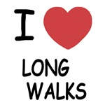 I heart long walks