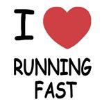 I heart running fast
