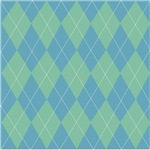 Blue & Green  Argyle