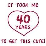 Funny 40th Birthday (Heart)