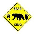 Bear and Tracks XING