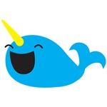 Super cute Narwhale smiley