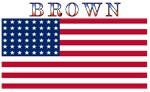 Brown USA United States American Flag