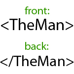 Begin TheMan End TheMan HTML humorous t-shirts