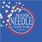 Vote For Mark Custom Buttons and Bumper Sticker