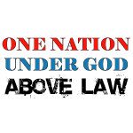 Under God Above Law gifts and tee shirts