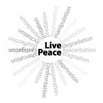 Live Peace, anti-war teeshirts and gifts