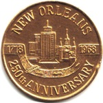 New orleans 250 Years Medallion