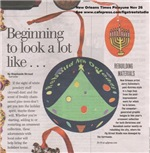 Newspaper Artile About Fig Street Studio Christmas