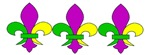 MArdi Gras Fleur De Lis