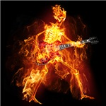 Flaming Skeleton Guitarist