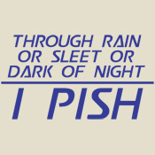 Through Rain or Sleet... I Pish