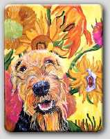 Airedale, other breeds, painting,Totebags