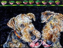 Airedale & other painting images CALANDARS